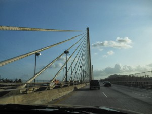 "Crossing ""New"" Bridge over the Panama Canal"