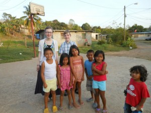 Children Welcoming Us to Loma Cova
