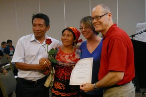 Couple Receiving Certificate after Seminar