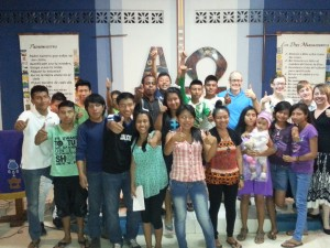 """Joyfully Living in God's Way with our  """"Thumbs Up"""" to Jesus after the Singles' Seminar"""