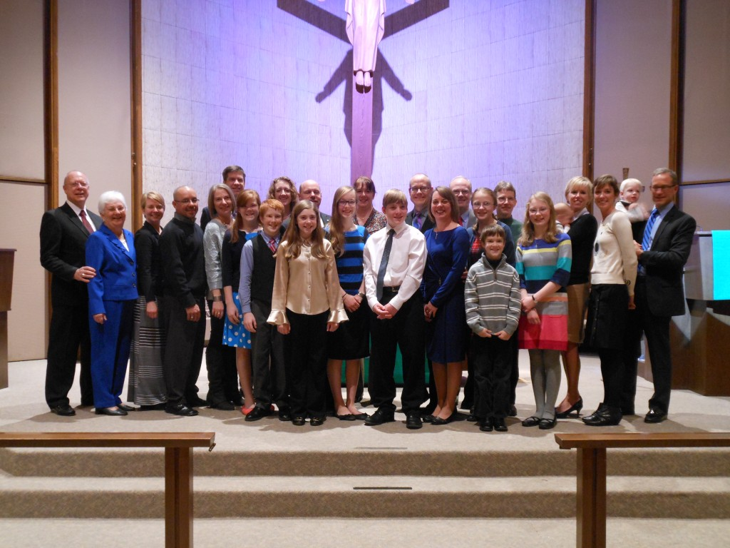 Micah, Family and Friends at His Confirmation